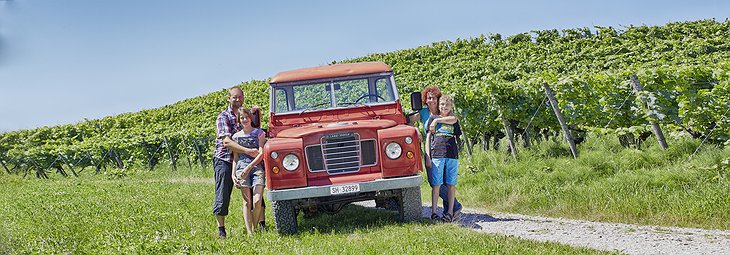 Waldmeier's Fasshotel family at the vineyard