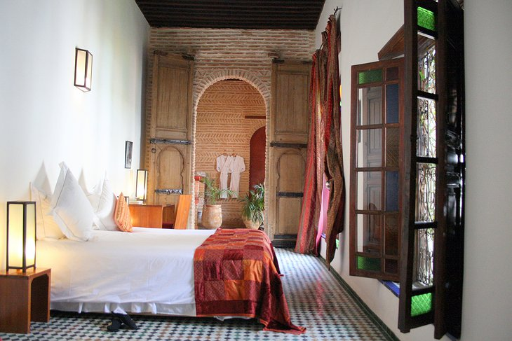 Riad Laaroussa red room