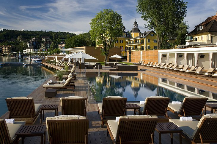 Falkensteiner Schlosshotel Velden beach club pool