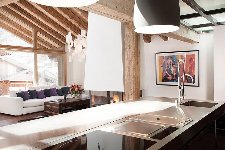 Skylight loft kitchen