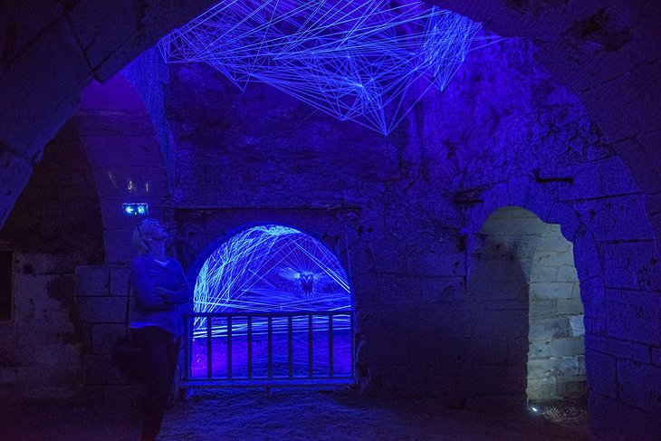 Fontevraud Abbey museum light show