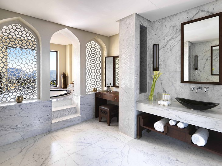 Anantara Al Jabal Al Akhdar Resort marble bathroom