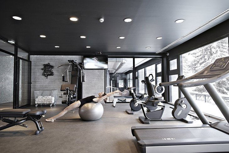 Totem Flaine Hotel gym