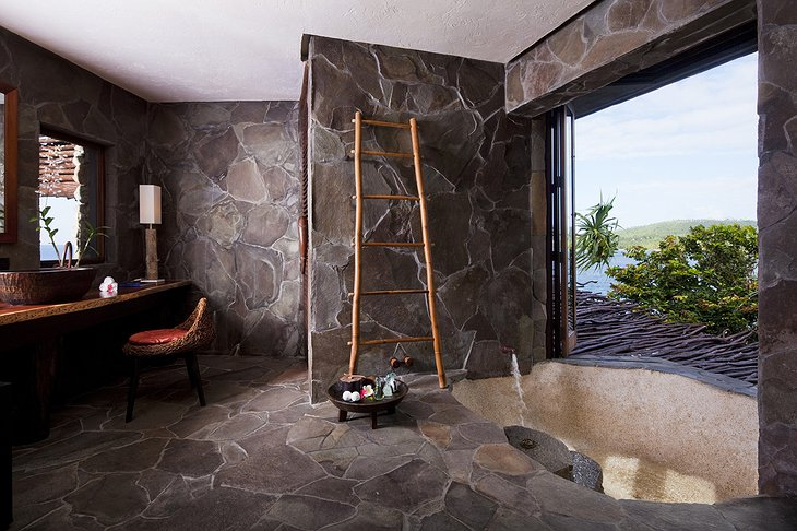 Laucala Island Resort Peninsula Villa bathroom