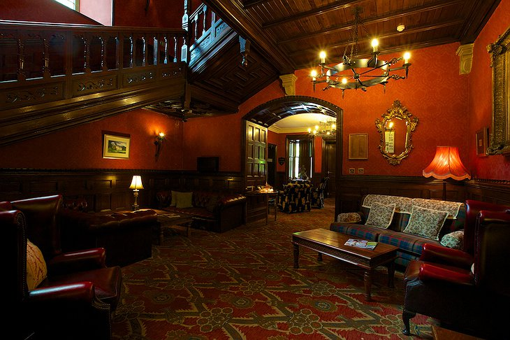 Tulloch Castle Hotel reception lobby
