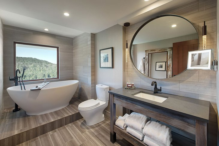 Salish Lodge Suite Bathroom