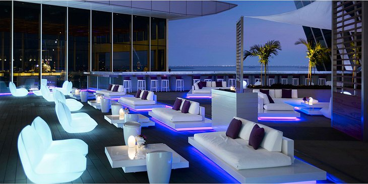 InterContinental Dubai Festival City rooftop terrace