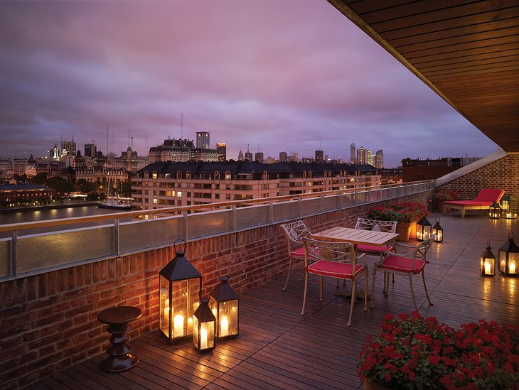Faena Hotel Buenos Imperial Suite rooftop terrace