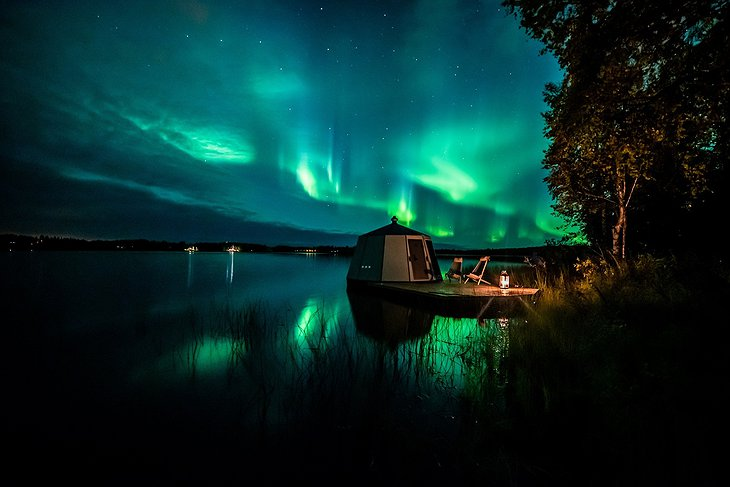 Northern lights at Ranua in September