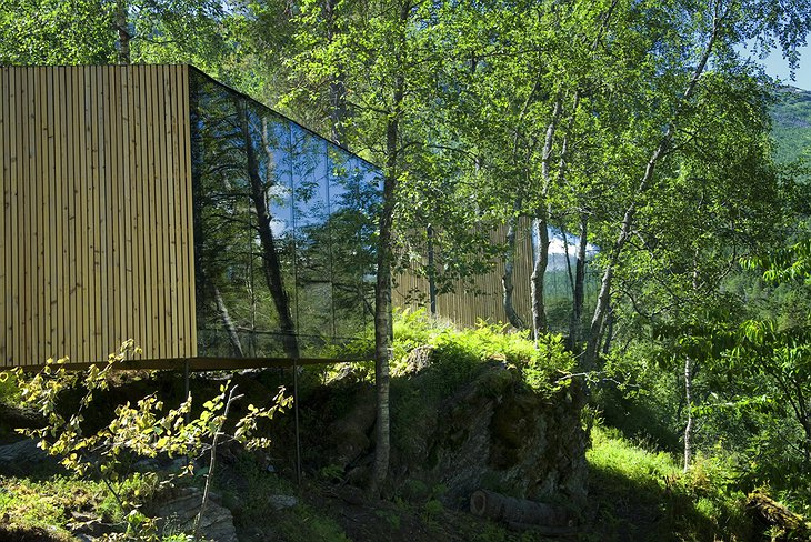 The glass cabins of Juvet Landscape Hotel