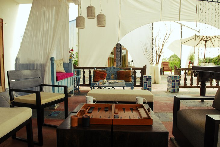 The Farm hotel Jaipur terrace