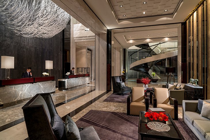 Four Seasons Hotel Pudong reception area