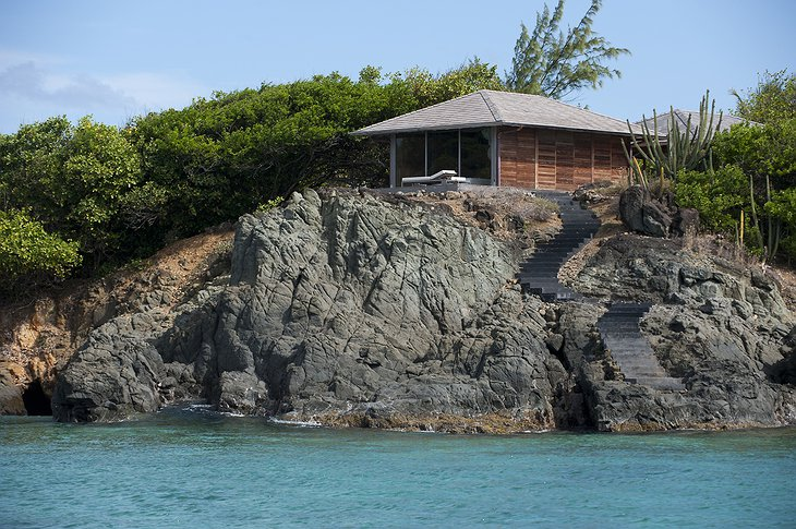 Mustique Island villa on the rock