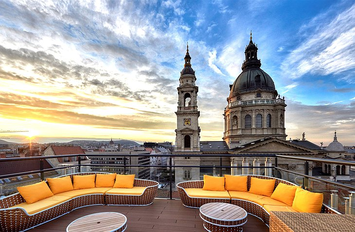 Aria Hotel Budapest Rooftop Terrace Panorama