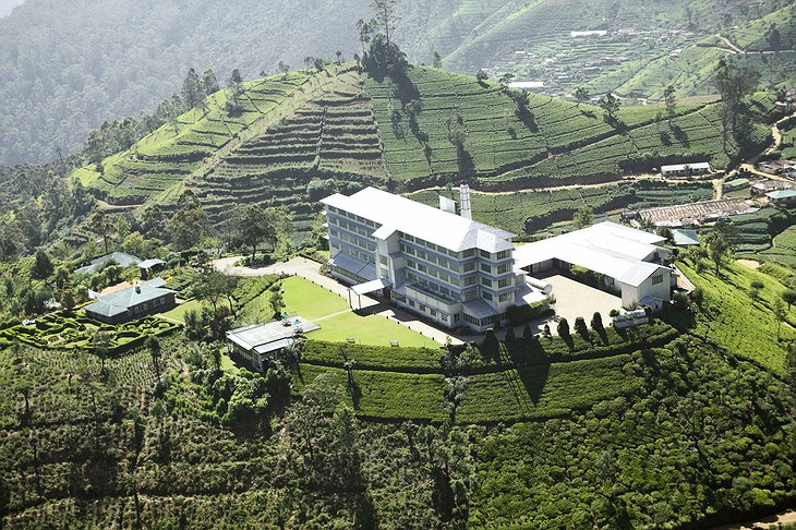 Heritance Tea Factory helicopter view