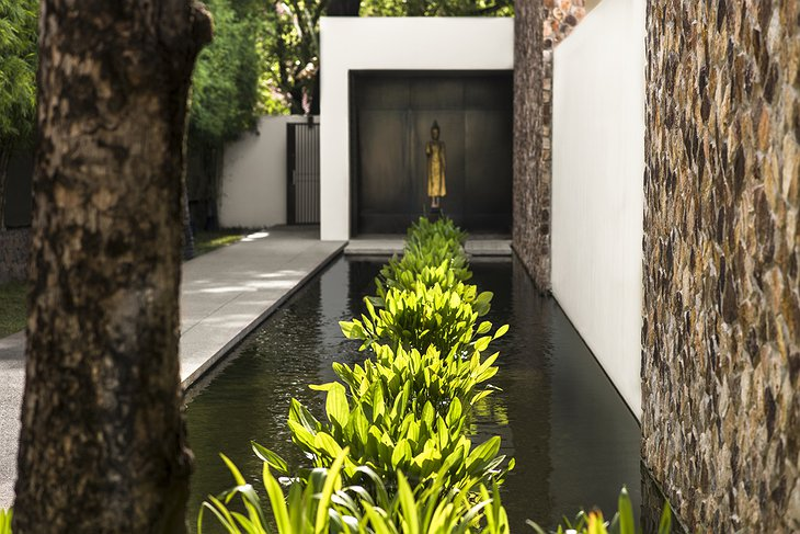Aman Spa pathway and reflection pool