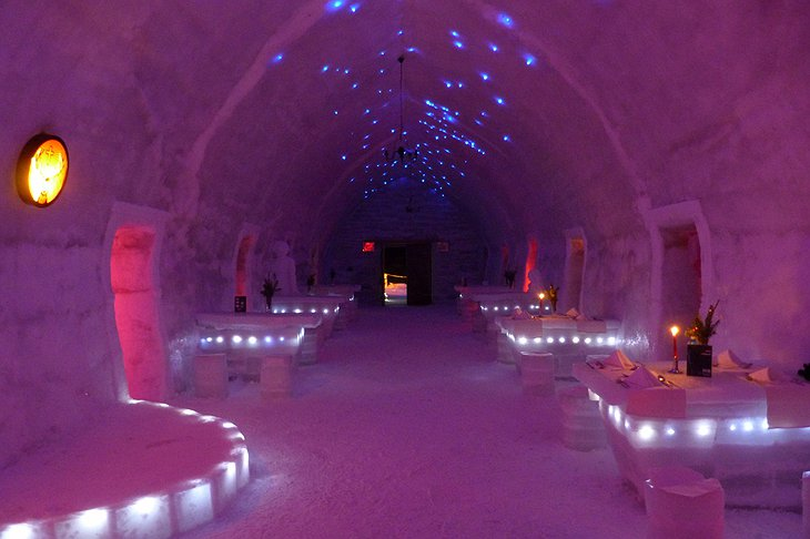 Ice Hotel Romania dining hall