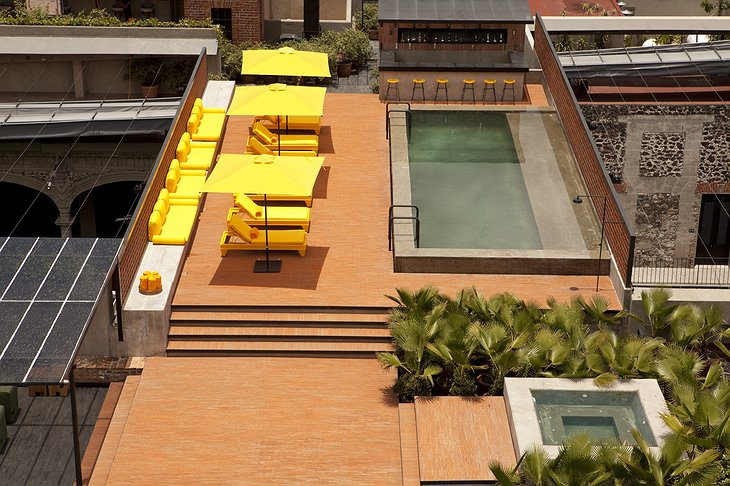 Rooftop terrace with pool