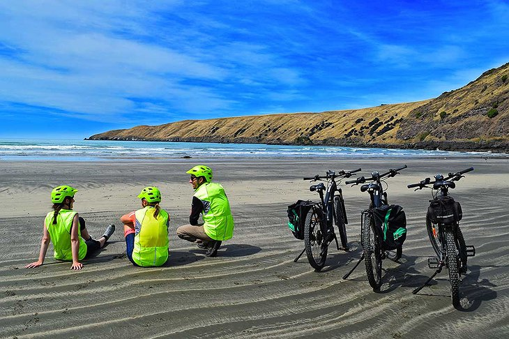 New Zealand sea-side biking