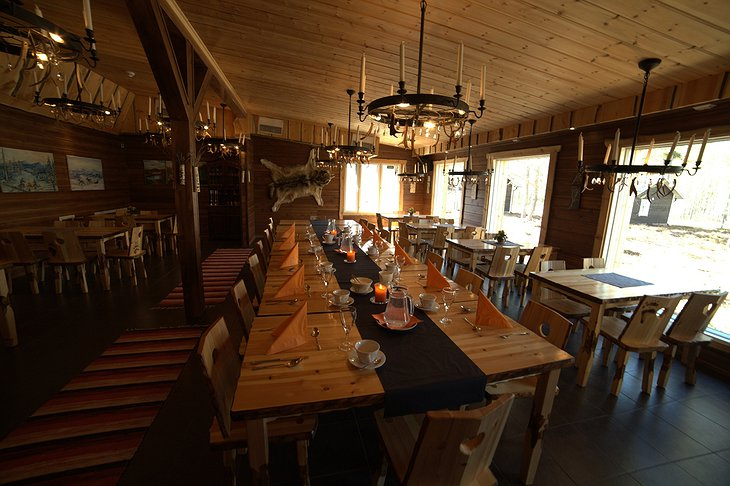 Nellim Wilderness Hotel restaurant