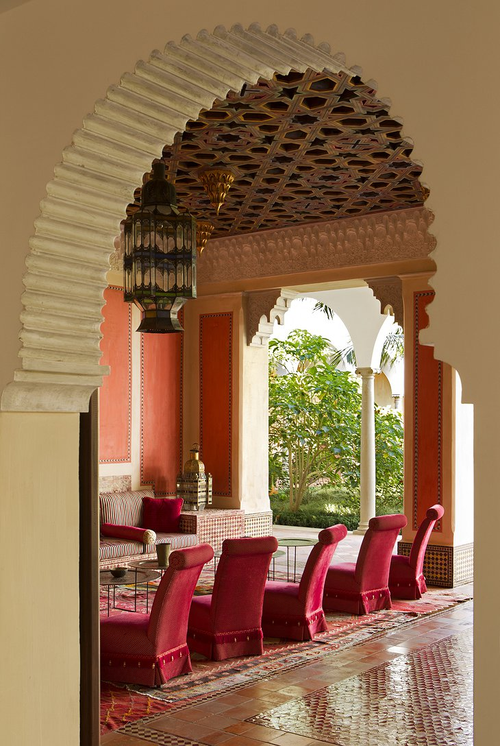 Finca Cortesin Hotel terrace dining