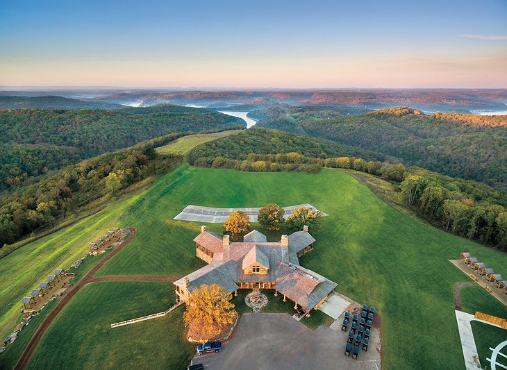 Big Cedar Lodge Shooting Academy Aerial