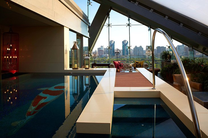 Hotel Éclat Beijing private pool