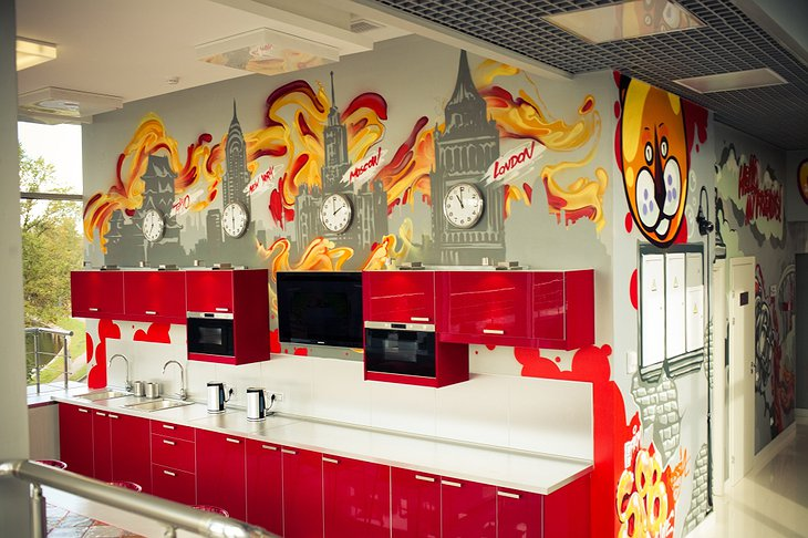 Red Stars Hotel kitchen