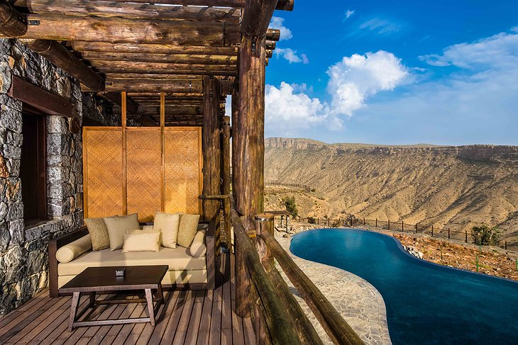 Alila Jabal Akhdar balcony and pool