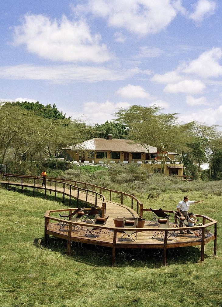 Hatari Lodge wildlife viewing terrace