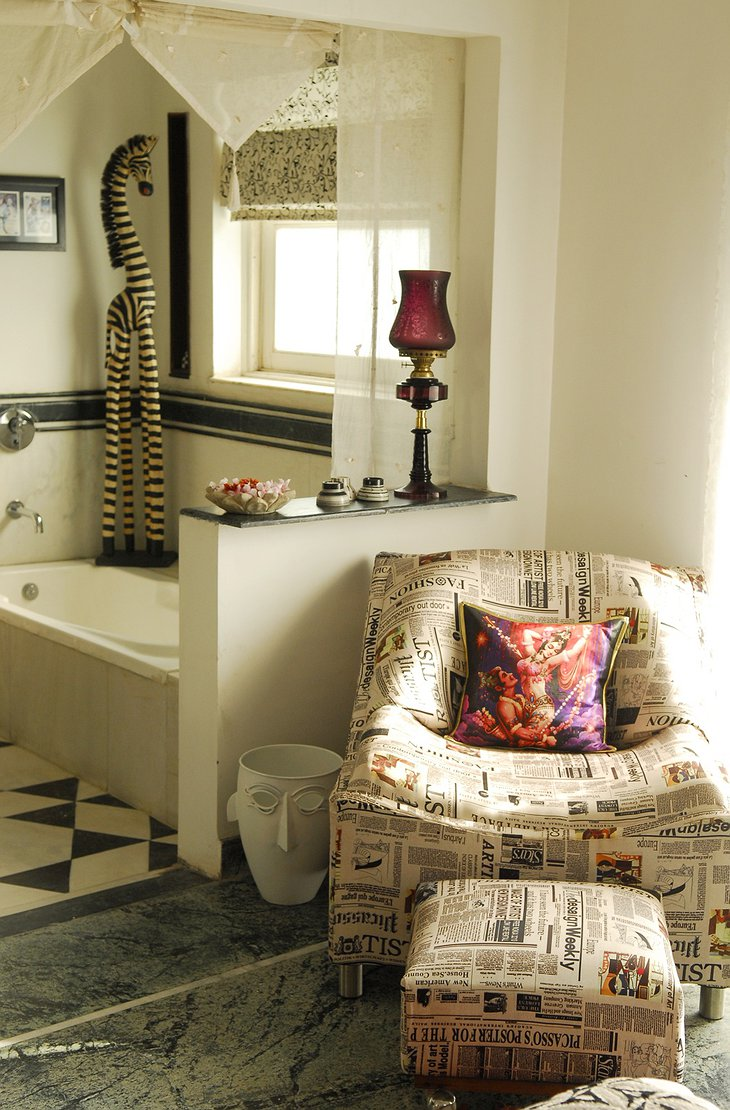 Bathroom with sofa