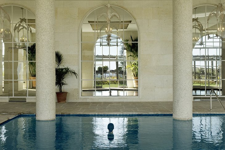 Finca Cortesin Hotel indoor spa pool