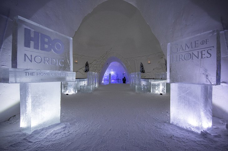 Lapland Hotels SnowVillage HBO Nordic Game of Thrones Theme Entrance
