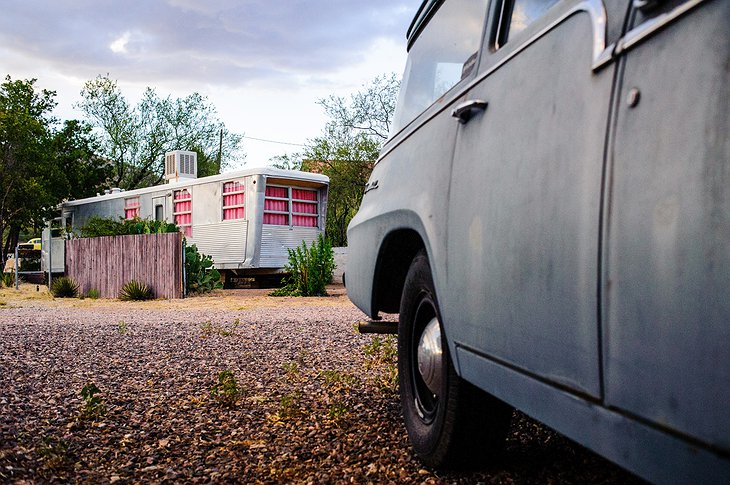 The Shady Dell vintage trailer