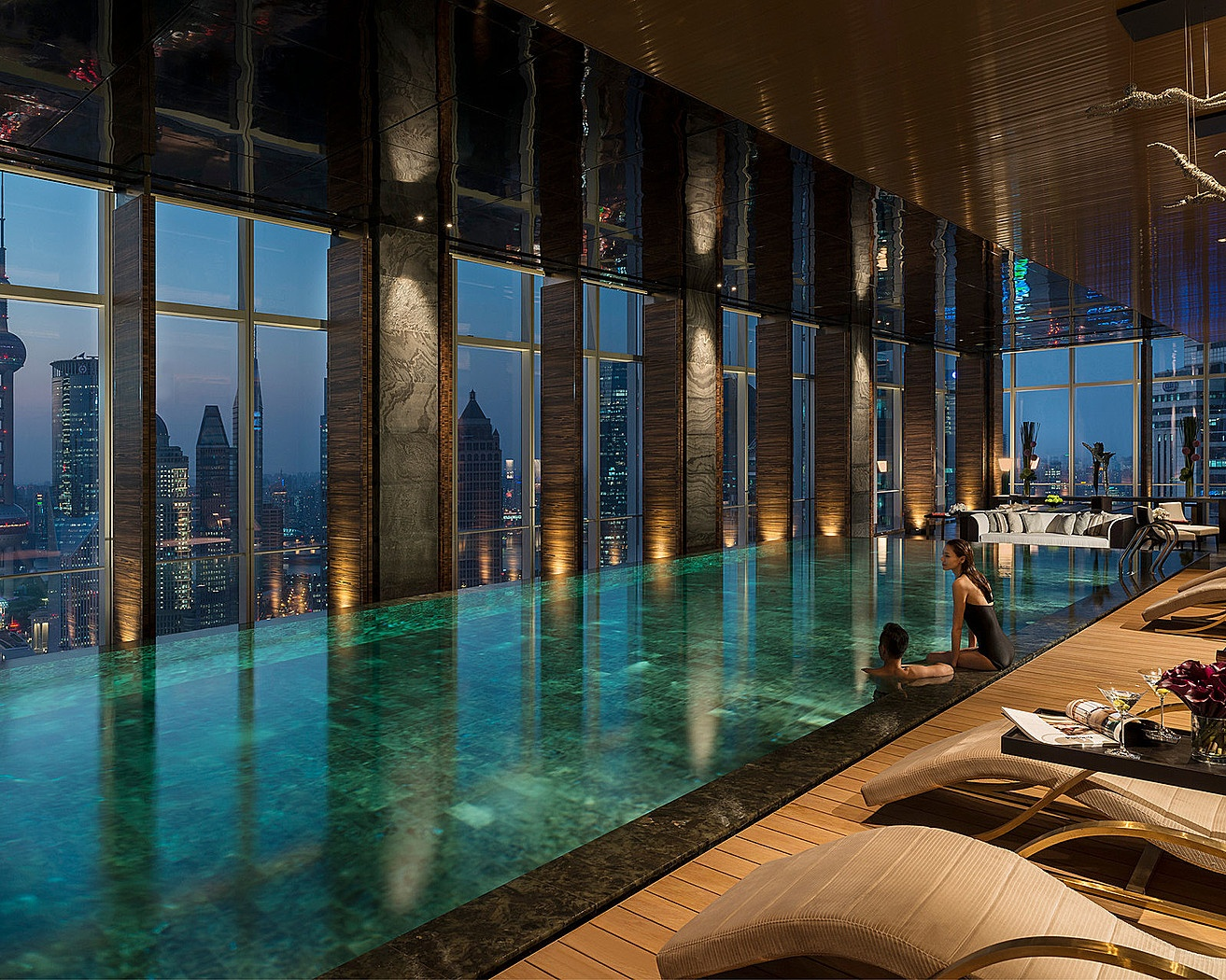 Four seasons shanghai pudong for Swimming pools nyc indoor