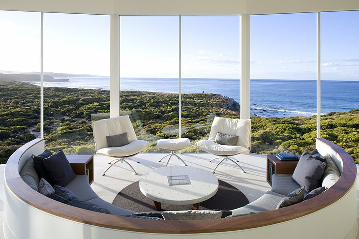 Southern Ocean Lodge room with view on the Kangaroo Island