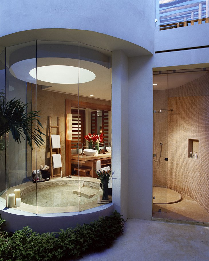 Rosewood Mayakoba suite bathroom