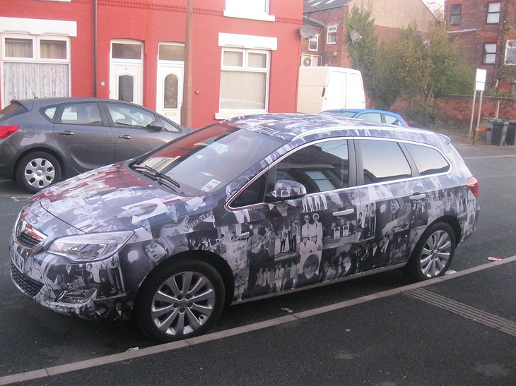 Vauxhall Astra with Beatles paintings