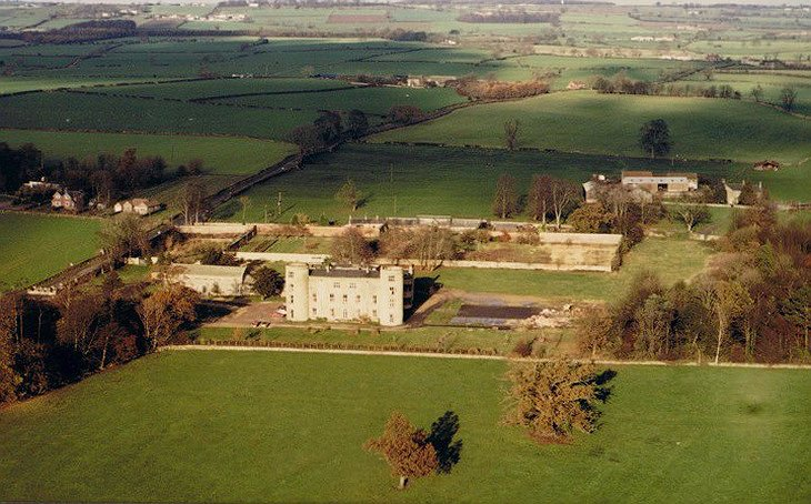 Walworth Castle aerial view