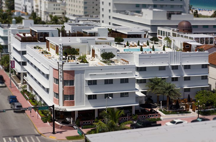 Dream South Beach hotel aerial view