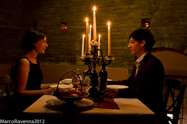 Romantic dining at Prendiparte tower hotel