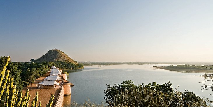 Chhatra Sagar luxury tents at the lake in Rajasthan