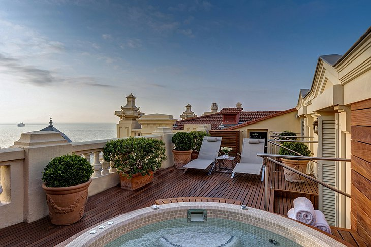 Hotel Hermitage Monte-Carlo penthouse jacuzzi