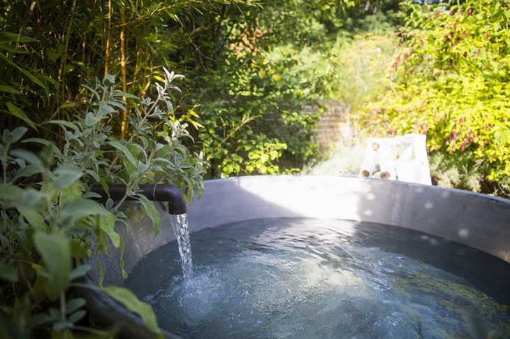 Lime Wood Hotel Herb House Spa hot tub