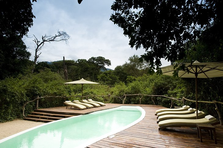 Swimming pool at &Beyond Lake Manyara Tree Lodge