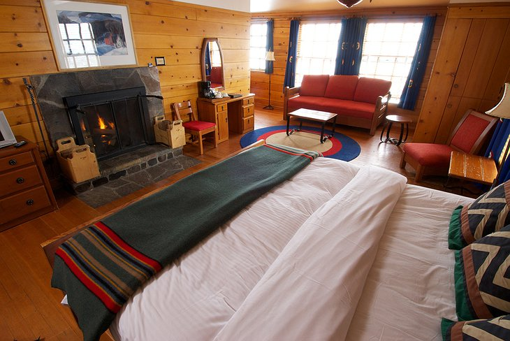 Timberline Lodge room with king size bed