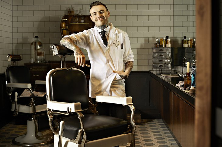 Barber of QT hotel Sydney