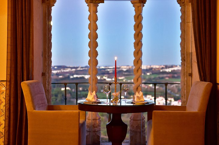Pousada Castelo de Obidos romantic dinner with majestic panorama