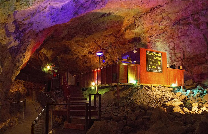 Grand Canyon Caverns Cave Room stairs