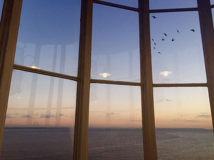 West Usk Lighthouse Window Evening Sea View